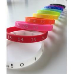 Lot de 10 bracelets aide-mémoire pour enfants