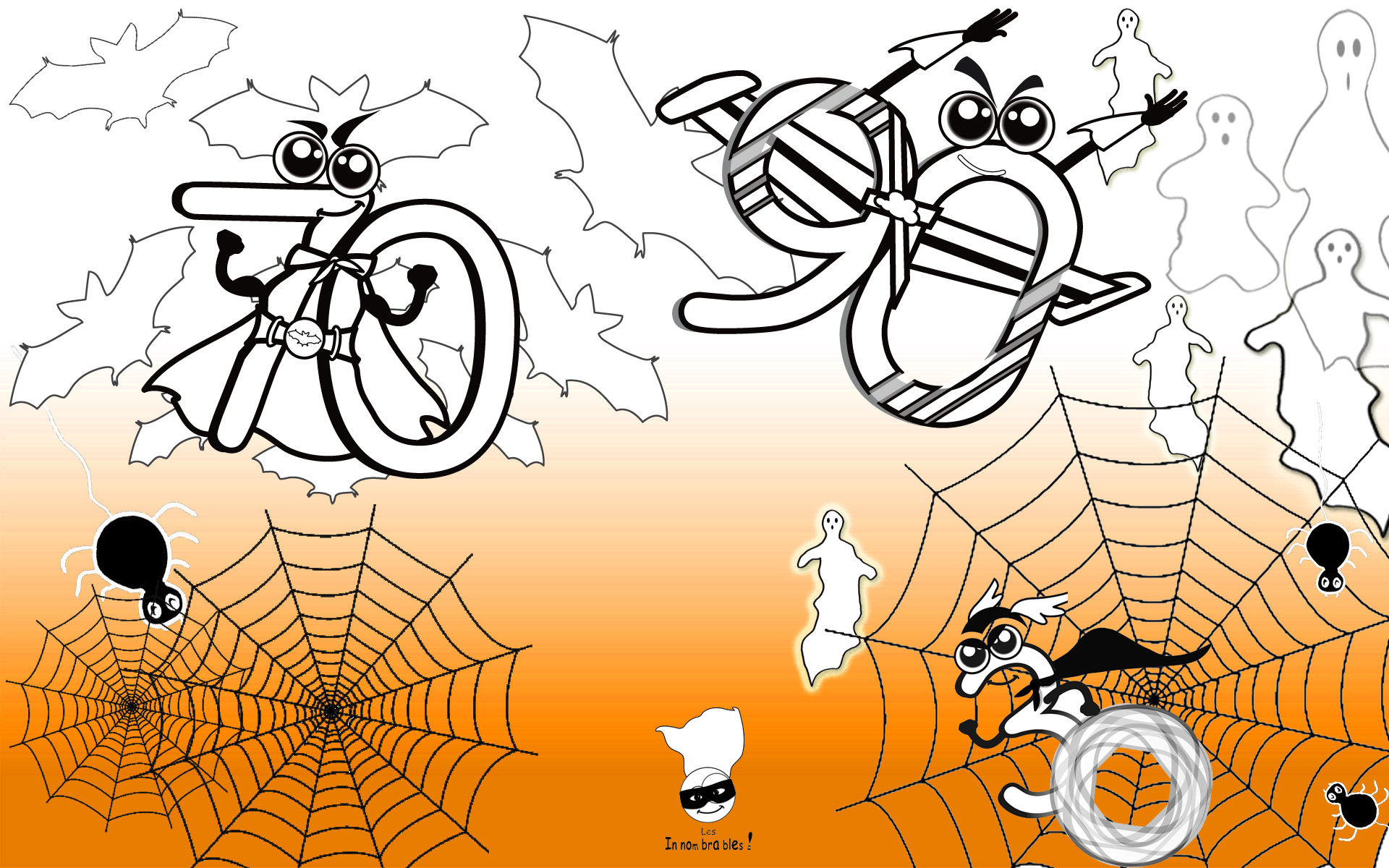 Coloriage Innombrables Halloween