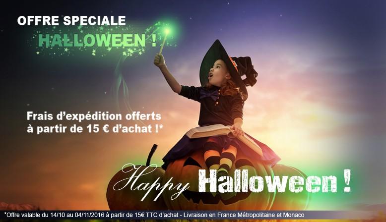 diapositive 3 fête halloween promo frais de port offerts à partir 15 euros d'achat